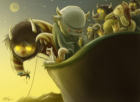 Where the Wild Things Fish by mikemaihack
