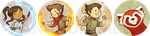 Button Series 2 - The Legend of Korra by ArandaDill