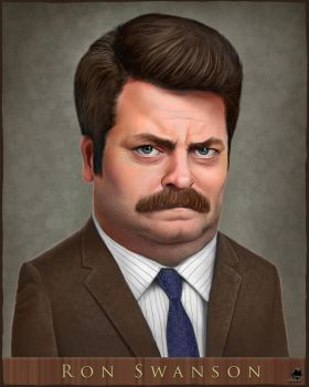 Ron Swanson by muppet-man