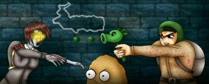 Plants Vs. Nazi Zombies by malphasbcs