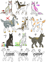 Large Pack Dog Adoptables by Railguns