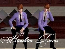 Hitachiin Twins in Sims 2 by NegativeDanna