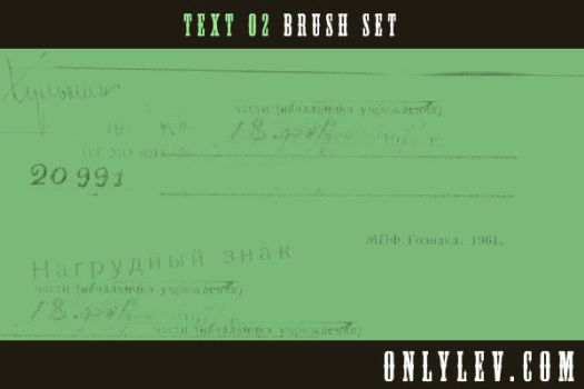 Text Brushes 02 - onlylev.com by olbrushes