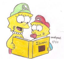 Lisa and Maggie's Storytime by MarioSimpson1