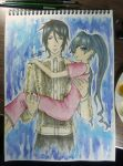 Lady Phantomhive and Sebastian Michaelis by arish9