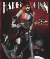 Painting Harley Quinn 003 by PZNS