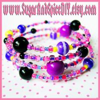 Cheshire Cat Colored Bracelet by SugarAndSpiceDIY
