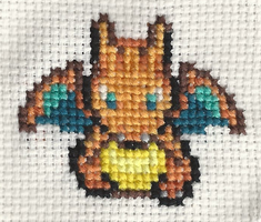 Chibi Charizard X-Stitch by Deanae