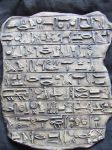 Egyptian Hieroglyph Tablet - Larping around by FireVerseCeramics