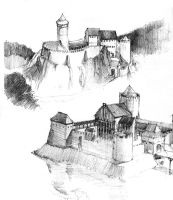medieval castle studies by Paper90