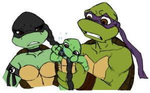 Aunty uncle moment TMNT by Lily-pily
