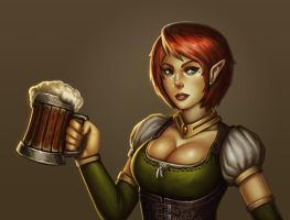 Fantasy Bar Maid by stonepro