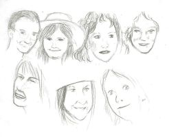 Old photo album sketches by KassieOpia