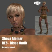 Sheva Alomar RE5 Disco Outfit by Adngel