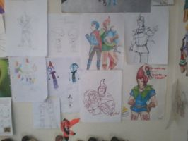 Groose Section on my Wall by InvaderSonicMx