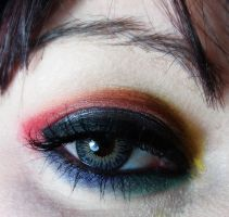 Makeup Tutorial Colorful Rainbow Eye by cherrybomb-81