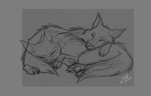 Wolfy Snuggles Ruff by fnook
