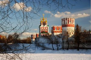 The Novodevichy Convent. March. Evening by Nickdan
