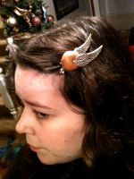 Golden Snitch Hair Clip by kittykat01