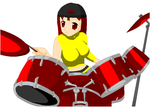 Kira on Drums by waterfish5678901