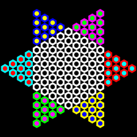 hexagons with holes by 10binary