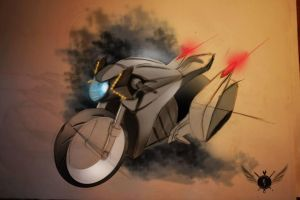 concept motorcycle by madsparkairbrush