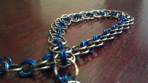 Blue and silver helms chain necklace by ulfchild