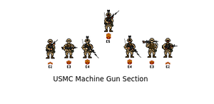 USMC MG Section by darthpandanl