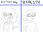 Virtual Vs. Reality by AngelEyesDeviant