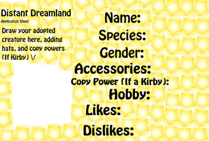 Distant-Dreamland Application Sheet by nooks-crannies