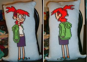 Knitted Frankie Pillow by NeitherSparky
