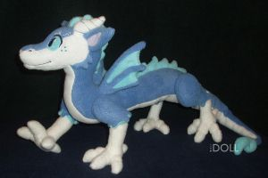 Asian Dragon Jointed Plush by dot-DOLL