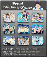 Free! Anime Folder Icon by Knives by knives1024