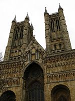 Lincoln Cathedral Spires by smallsofthamish