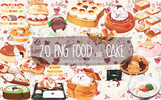 [ PACK ] 20 PNG Food and Cake by LarAmb