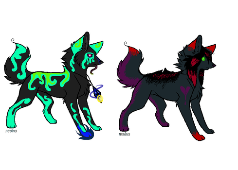 Magical Wolf/fox adopts ONE LEFT! by MoBAdopts