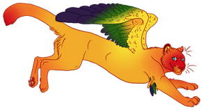 Lina: Sun Conure Cougar by NoxxPlush
