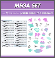Mega Set DIGITAL BRUSHES for Manga Studio5 by MissChroma