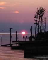 Sunset over the Sound by miss-masami