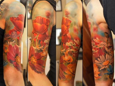 Wild Flowers Finished by grimmy3d