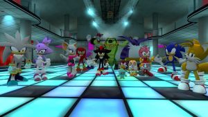 Sonic and Friends at the night club by DanteTheHehegog