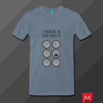 I Have a Six Pack Premium T-Shirt Design by masoudhaghi