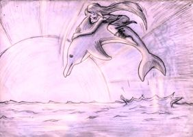 Dolphin Ride by TwickyGirl