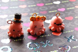 Octopus Charms by handmadekawaii96