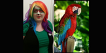 Exotic Bird Makeup by OHSHCroxmysoxoff