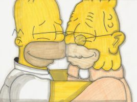 Homer And Abraham Simpson by ChnProd22