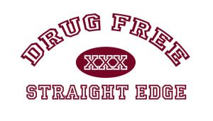 DRUG FREE STRAIGHT EDGE by stu-bacca