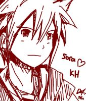 Sora Sketch - KH II by HikariNOSora