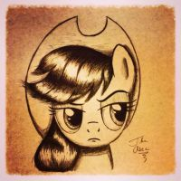 AppleJack Face by TheAsce