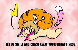 WE WILL EAT YOUR UNHAPPINESS by Inkblot-Rabbit
